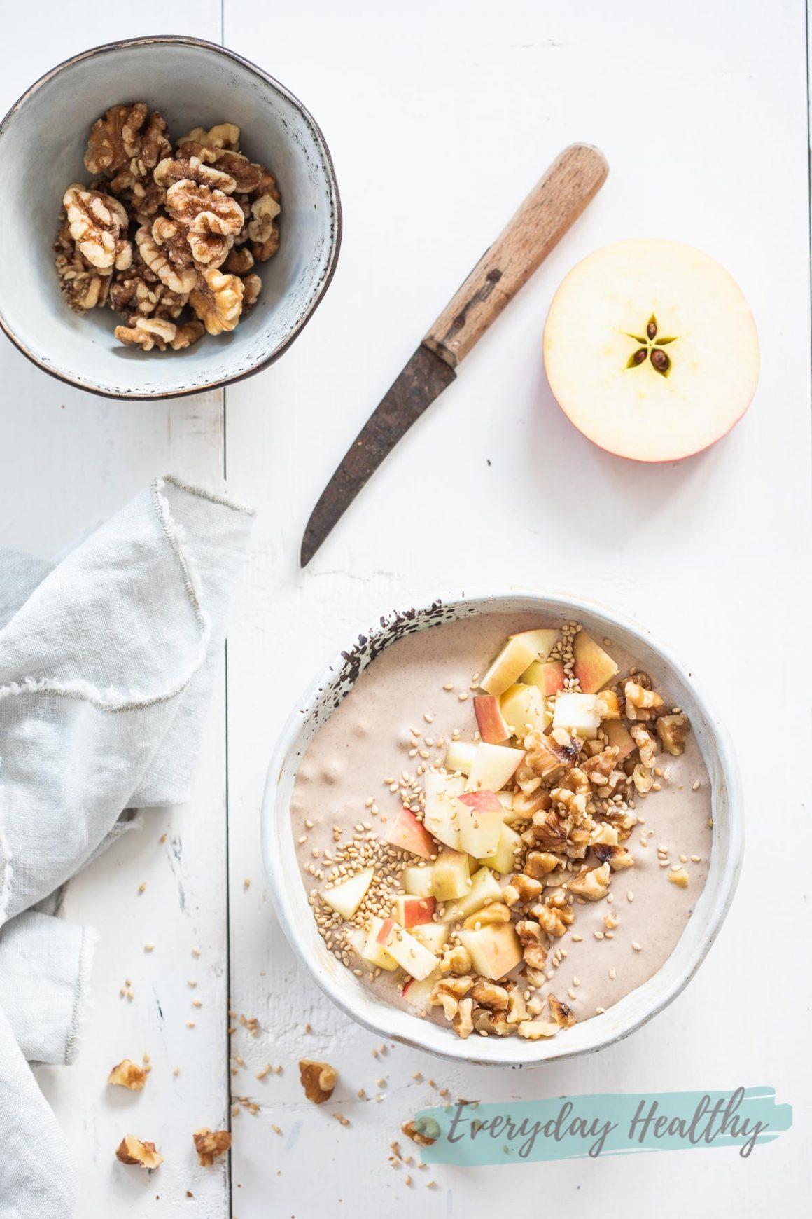 Smoothiebowl met appel